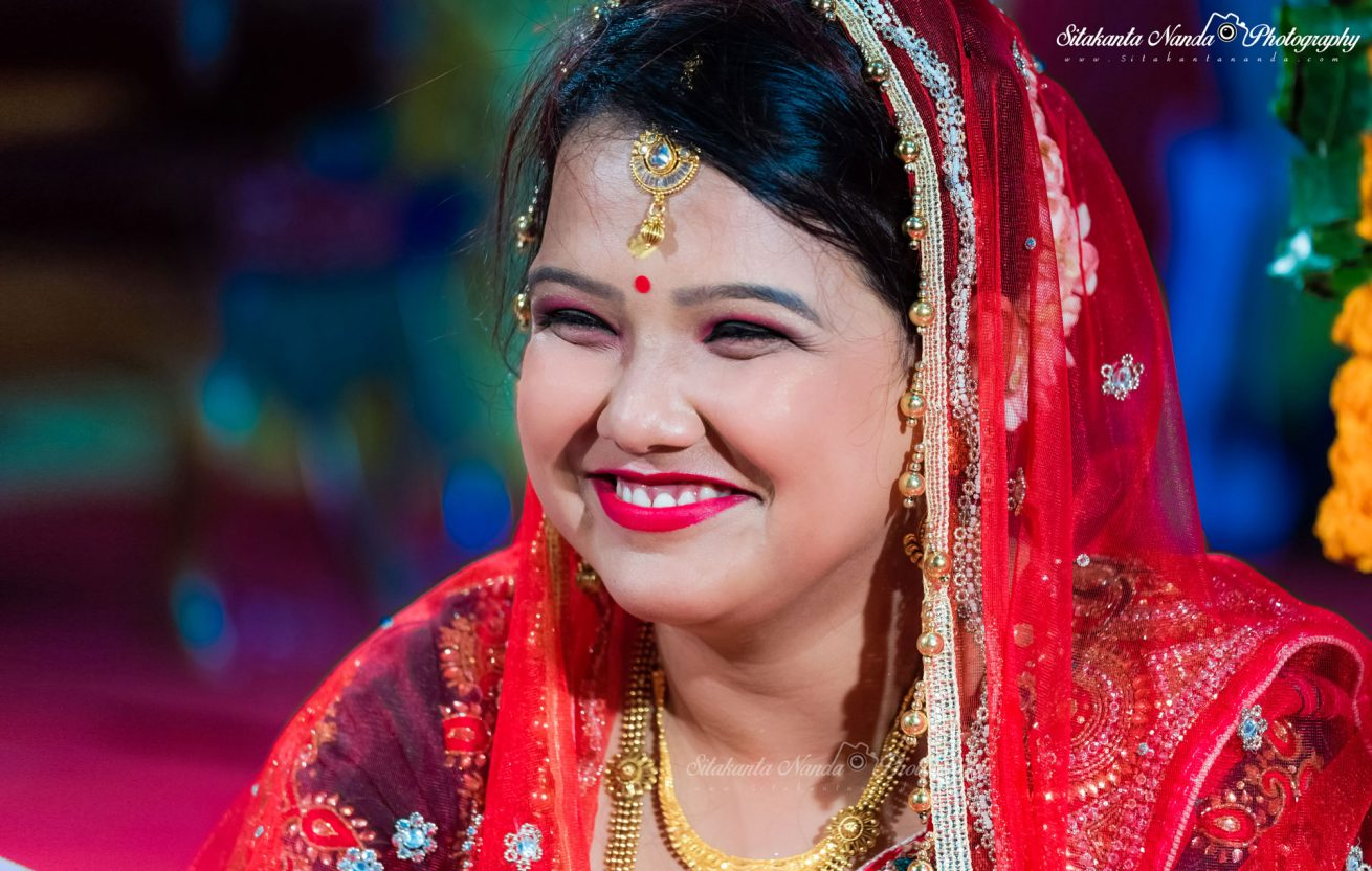 Indian Bride with Happy Face